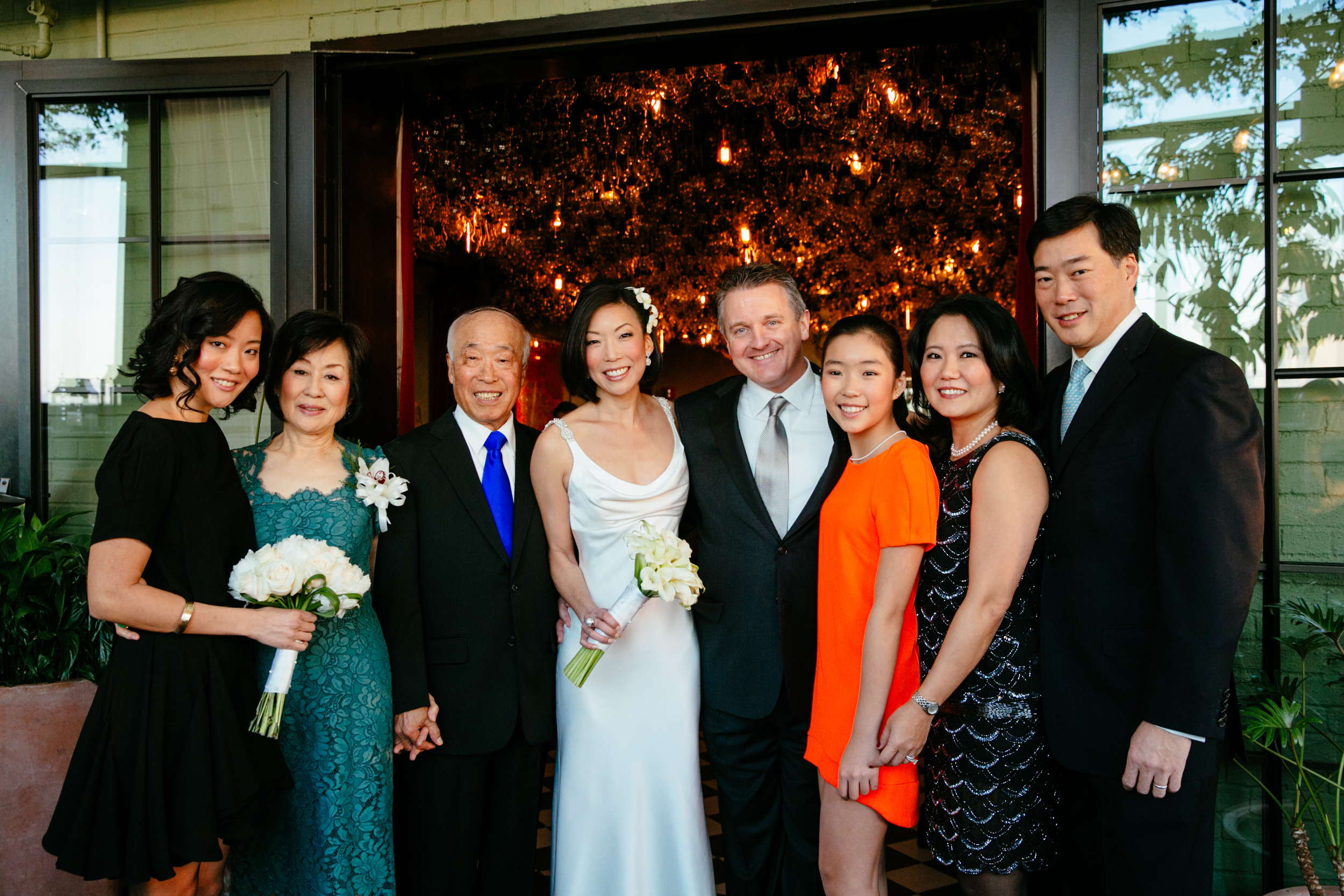 1-Chan Eai & Kook Dong Pae with their family at their daughter's wedding 2013.jpg