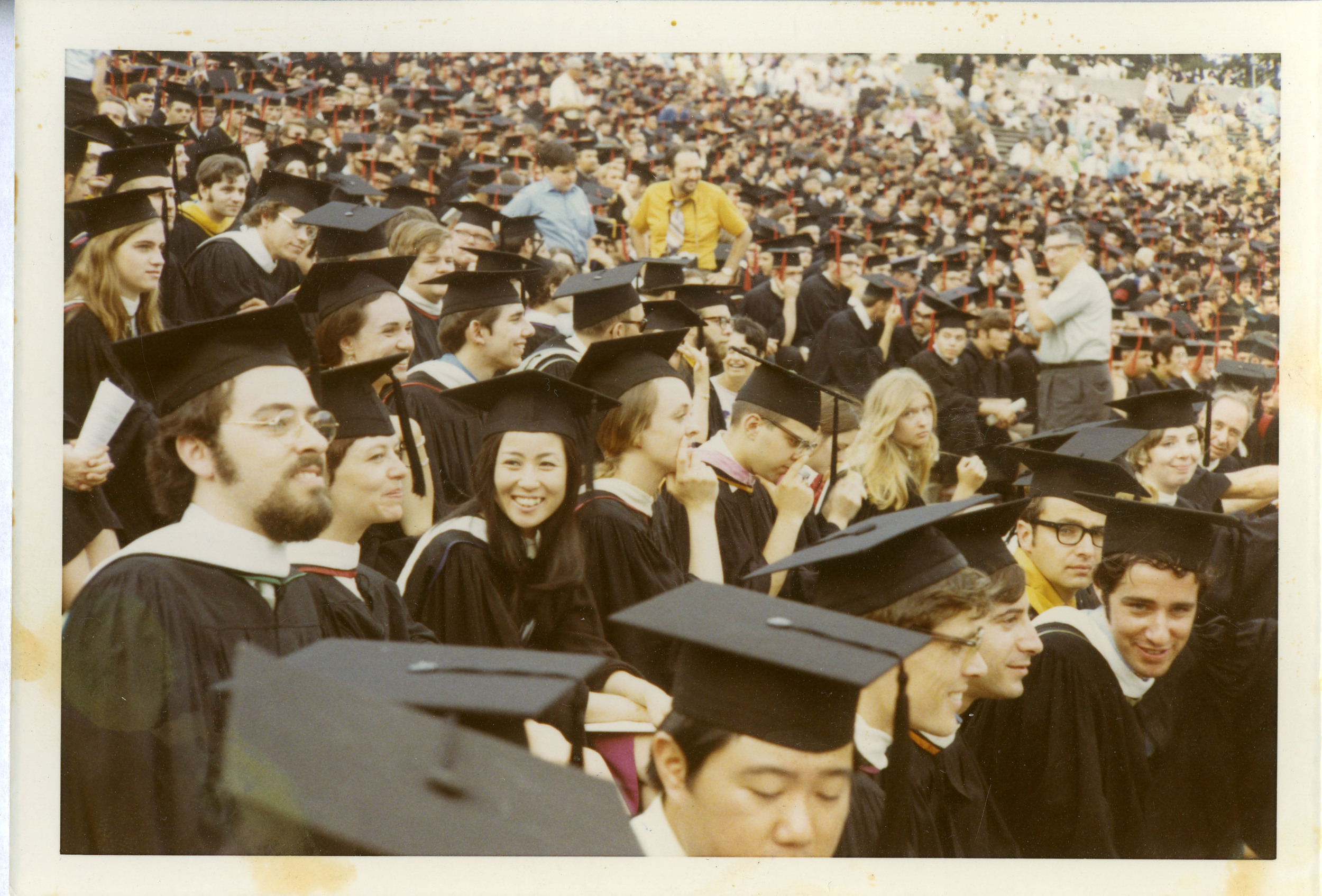 Graduation from Rutgers University with her MFA, 1971