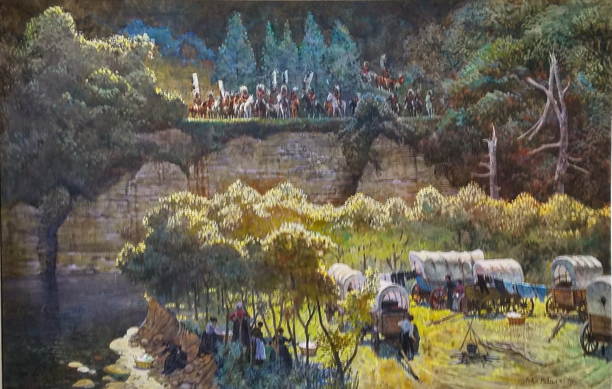 """""""Confrontation"""" by John Philip Falter Museum  A Giclee print which includes an authentic letter from John."""