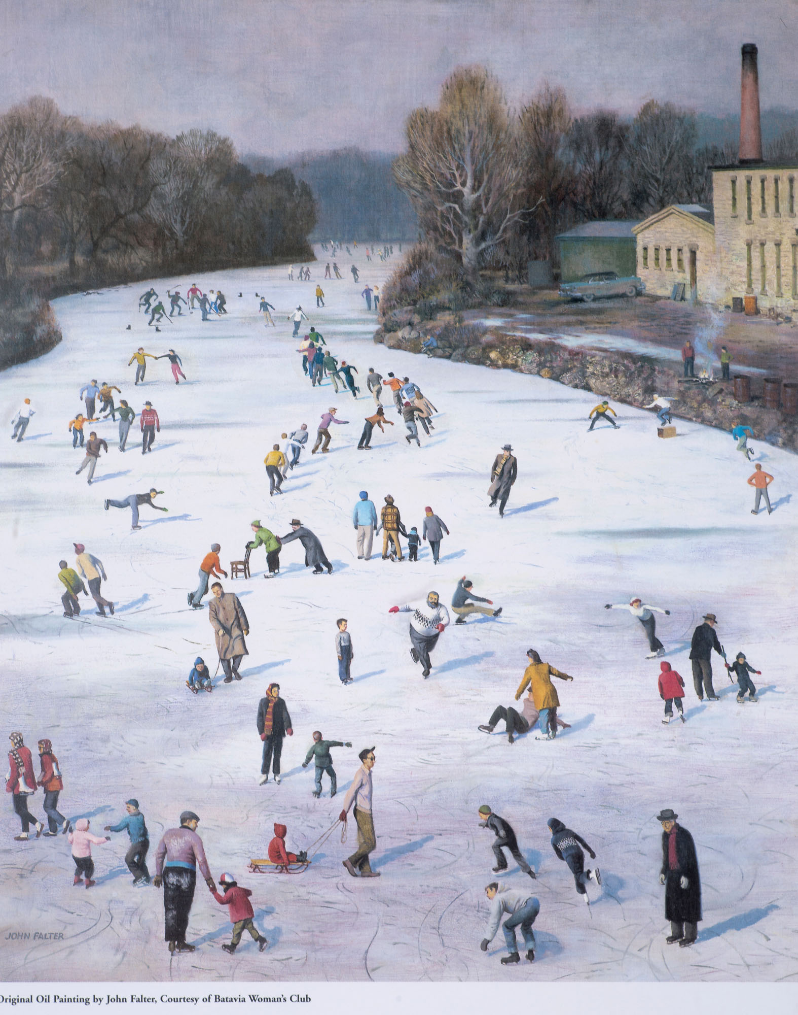 """FOX RIVER ICE SKATING  16"""" X 18"""" $50.00 *shipping not included*"""