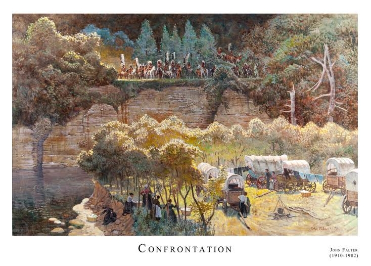 Confrontation print