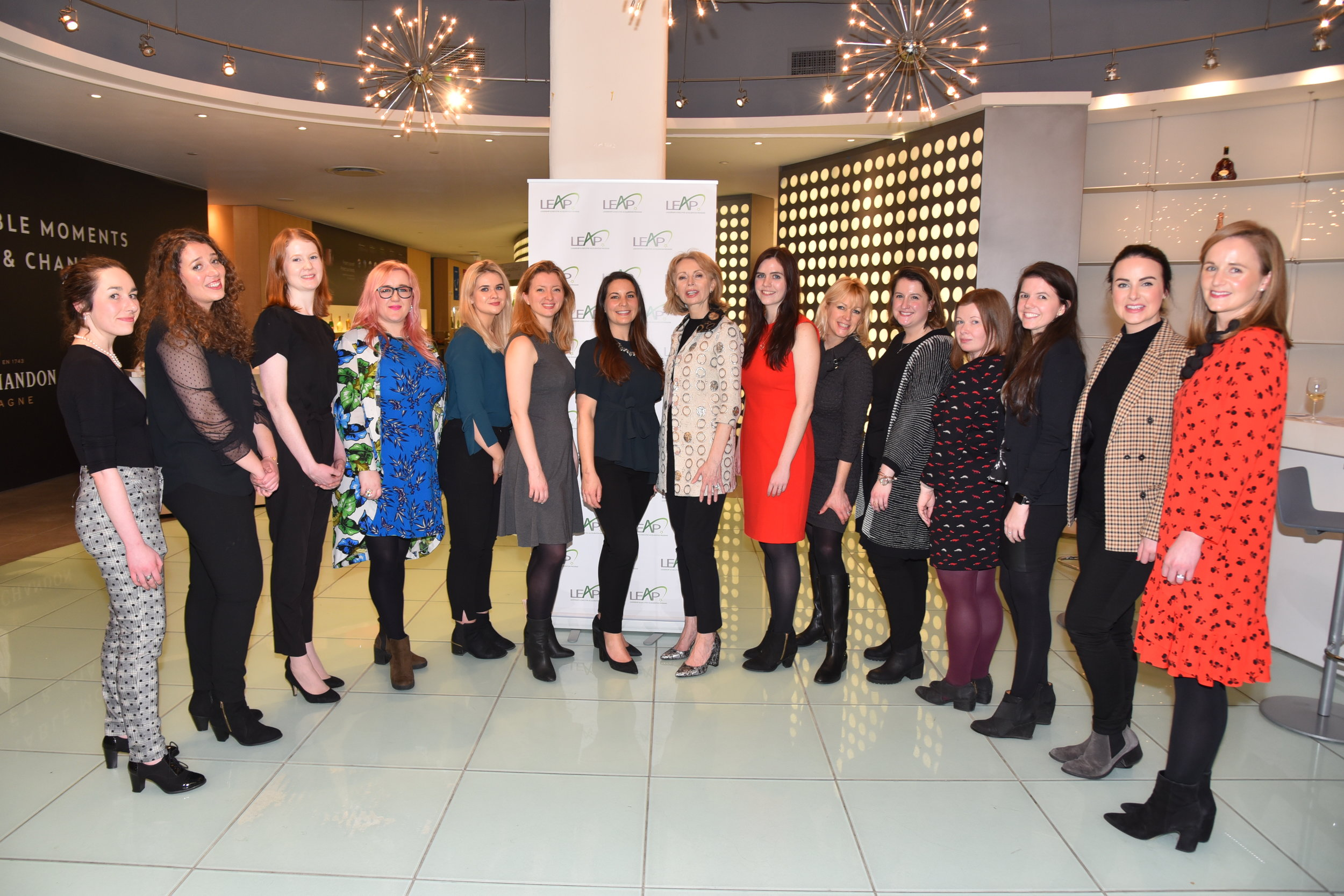 The women of the LEAP Program at the 2019 launch hosted at  Moët Hennessy HQ in New York City