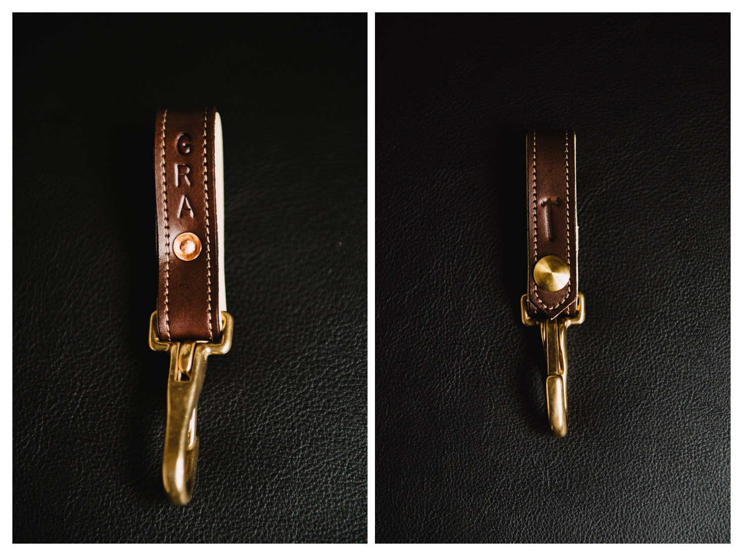 leather keychain groomsmen gifts