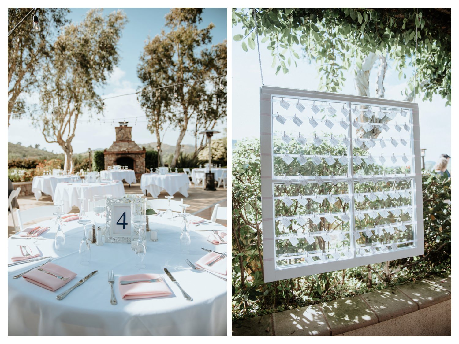 Wedding details at Twin Oaks Golf Course in San Marcos, CA.