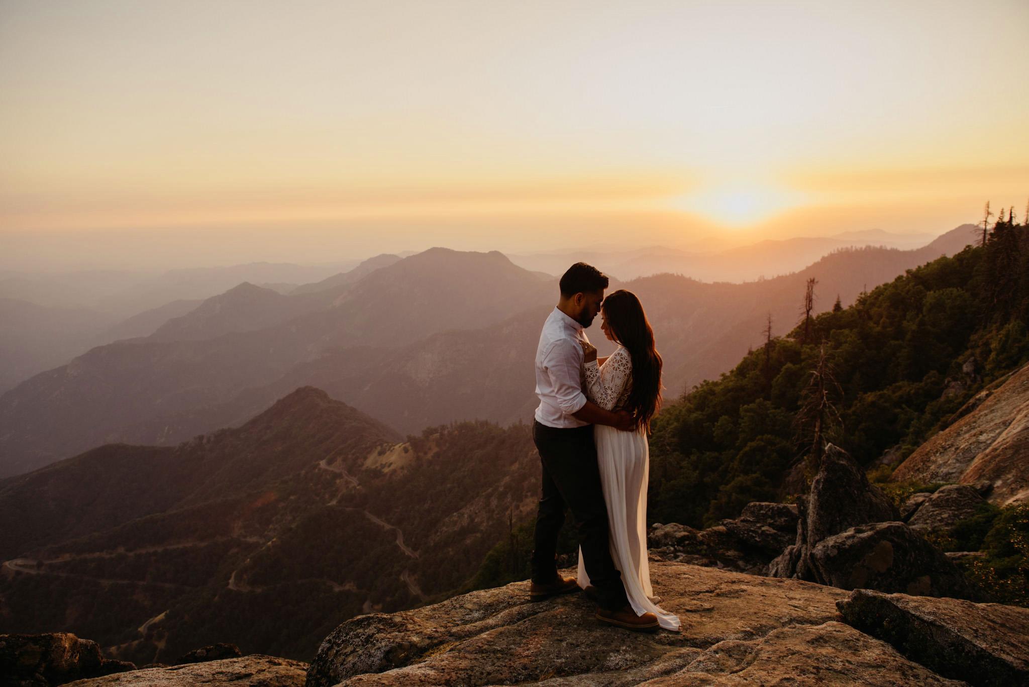 Adventure Engagement  | Sequoia National Park | Sarean + Curtis