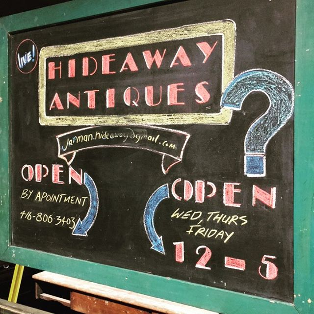 New and true hours at hideaway.