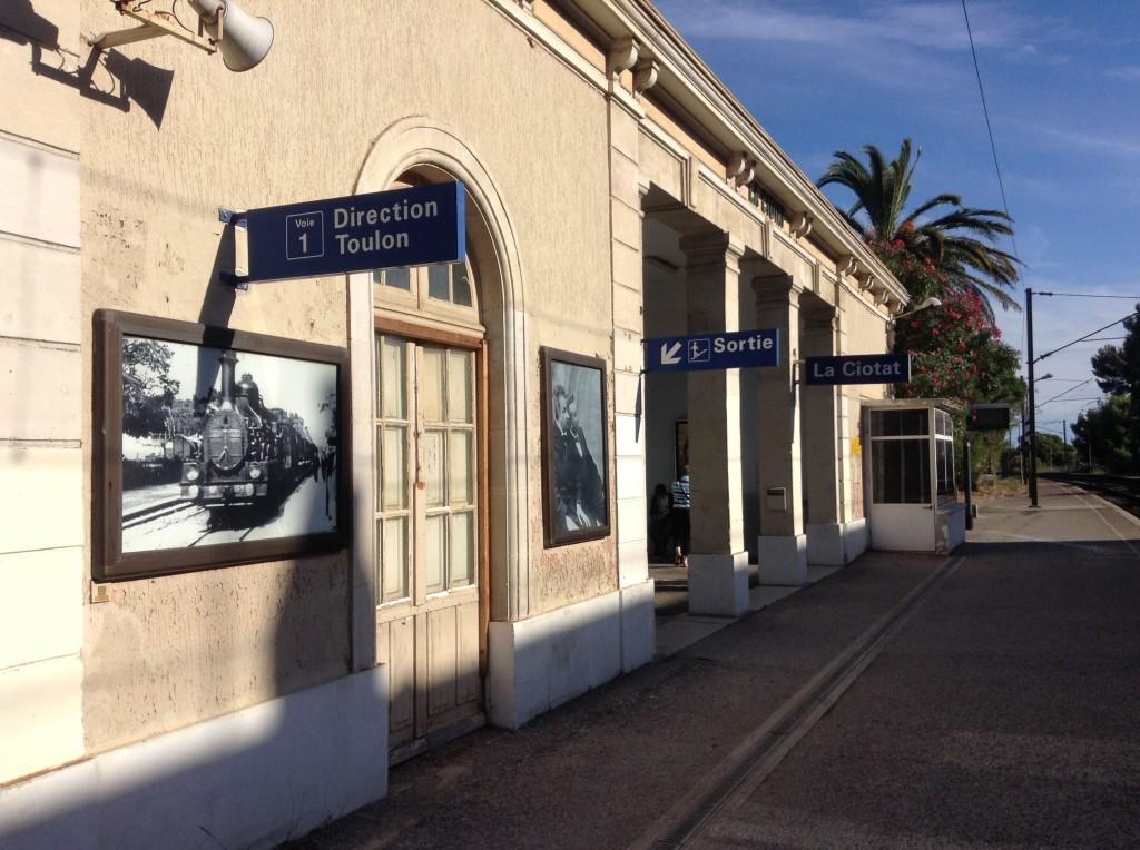 Stazione ferroviaria di La Ciotat, Francia.