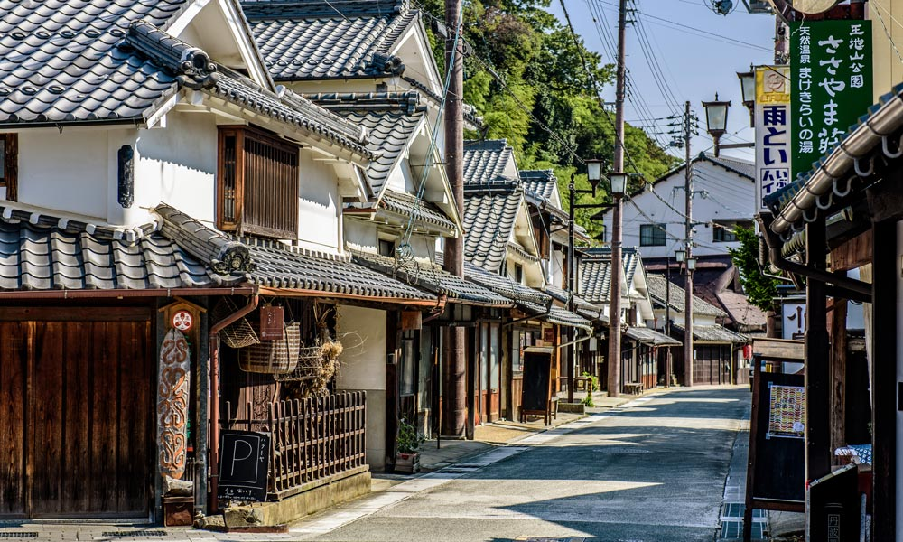 Case tradizionali giapponesi a Sasayama