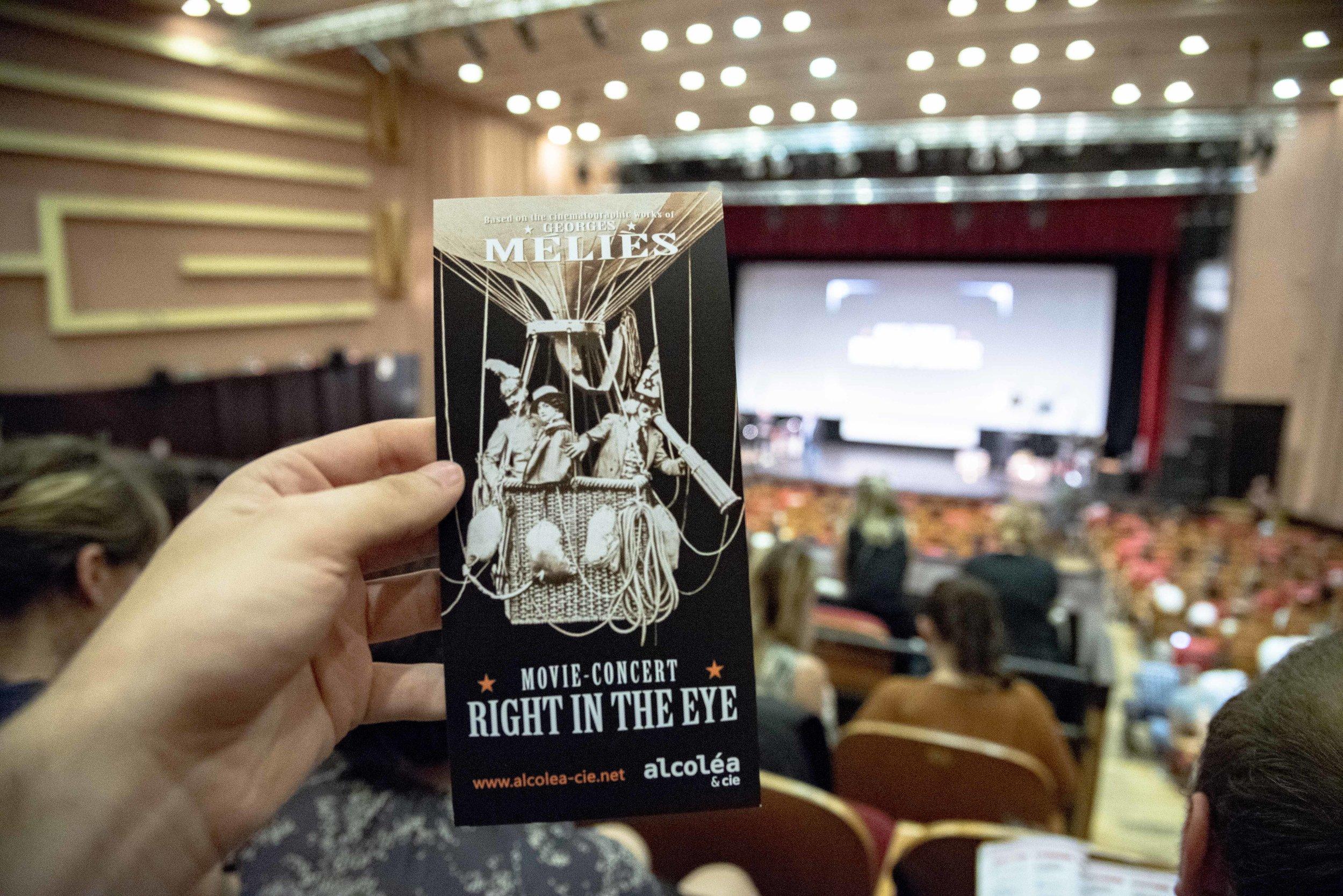 """Il Cine-Concerto  """"Right in the Eye""""  presso la Student Culture House di Cluj Napoca. Foto di Valerio Greco"""