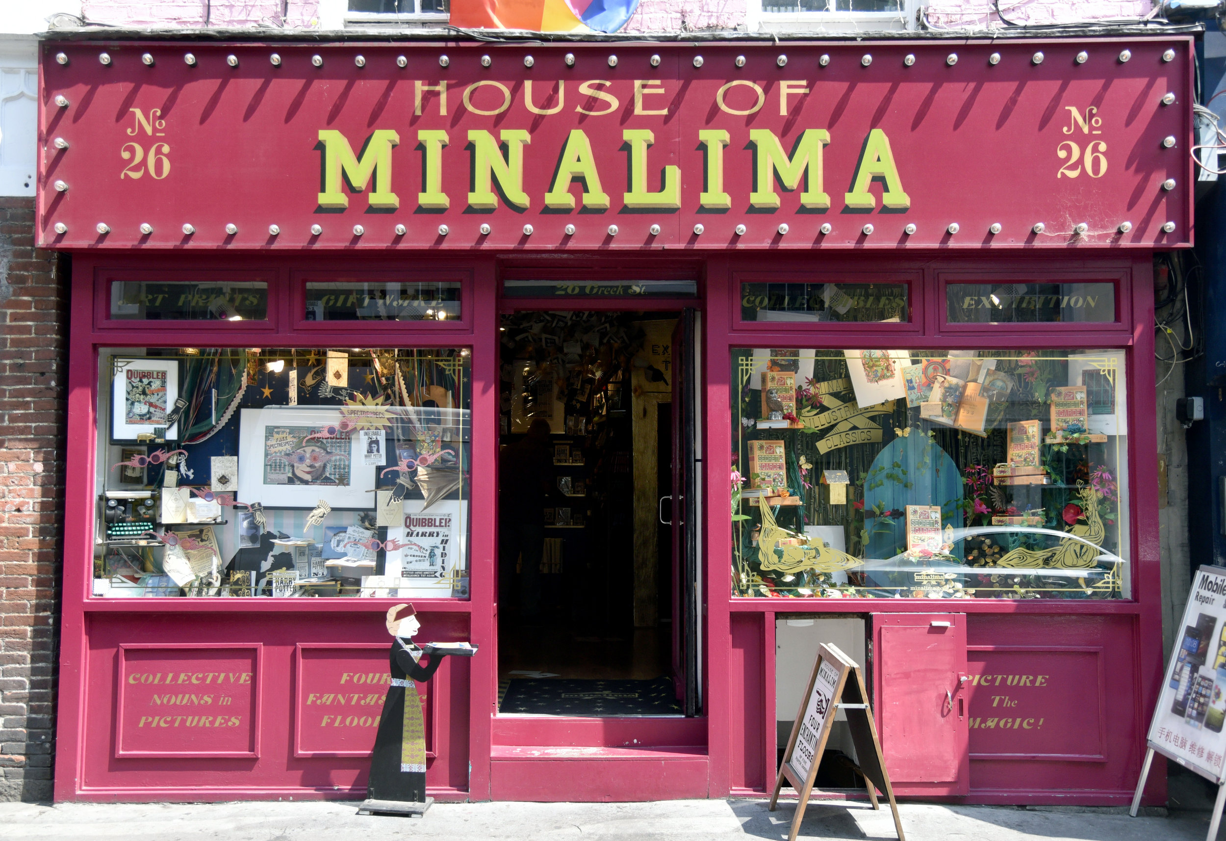 House of MinaLima, Londra. Foto di Valerio Greco