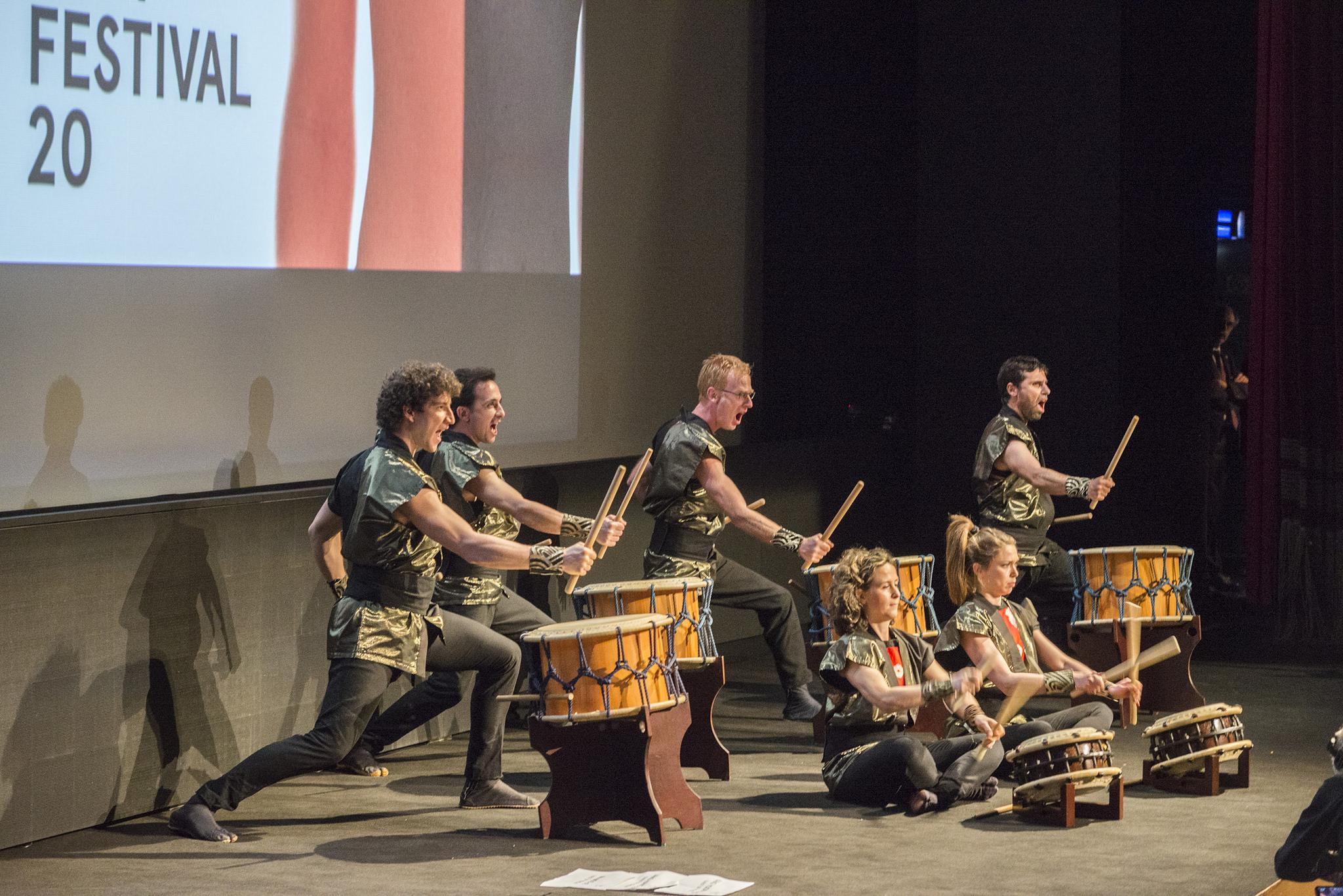 I KyoShinDo e i loro tamburi Taiko. Far East Film Festival 20, Udine. Foto di Alice BL Durigatto