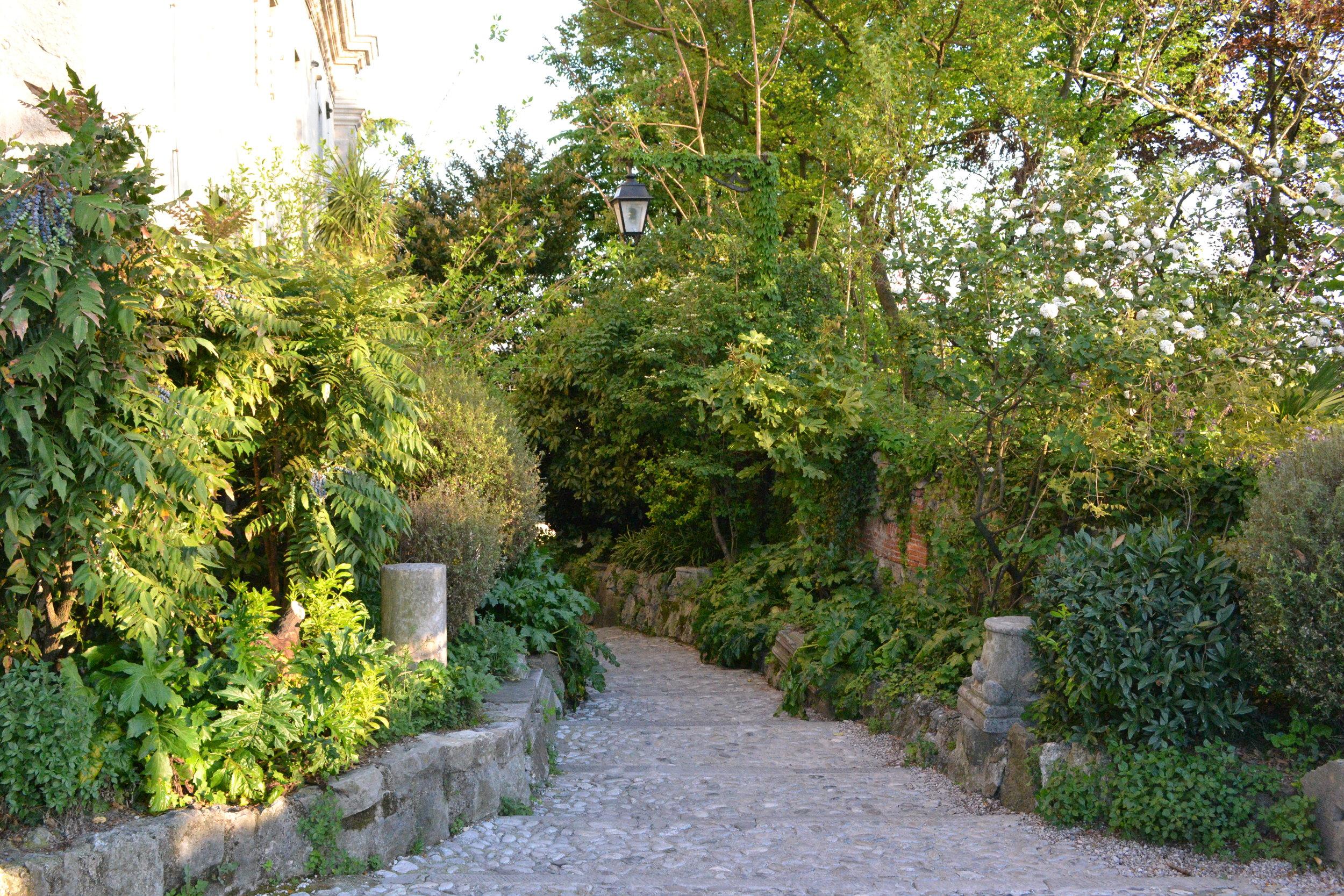 Scalinata a destra del Castello, Udine. Foto di Greta Cinalli