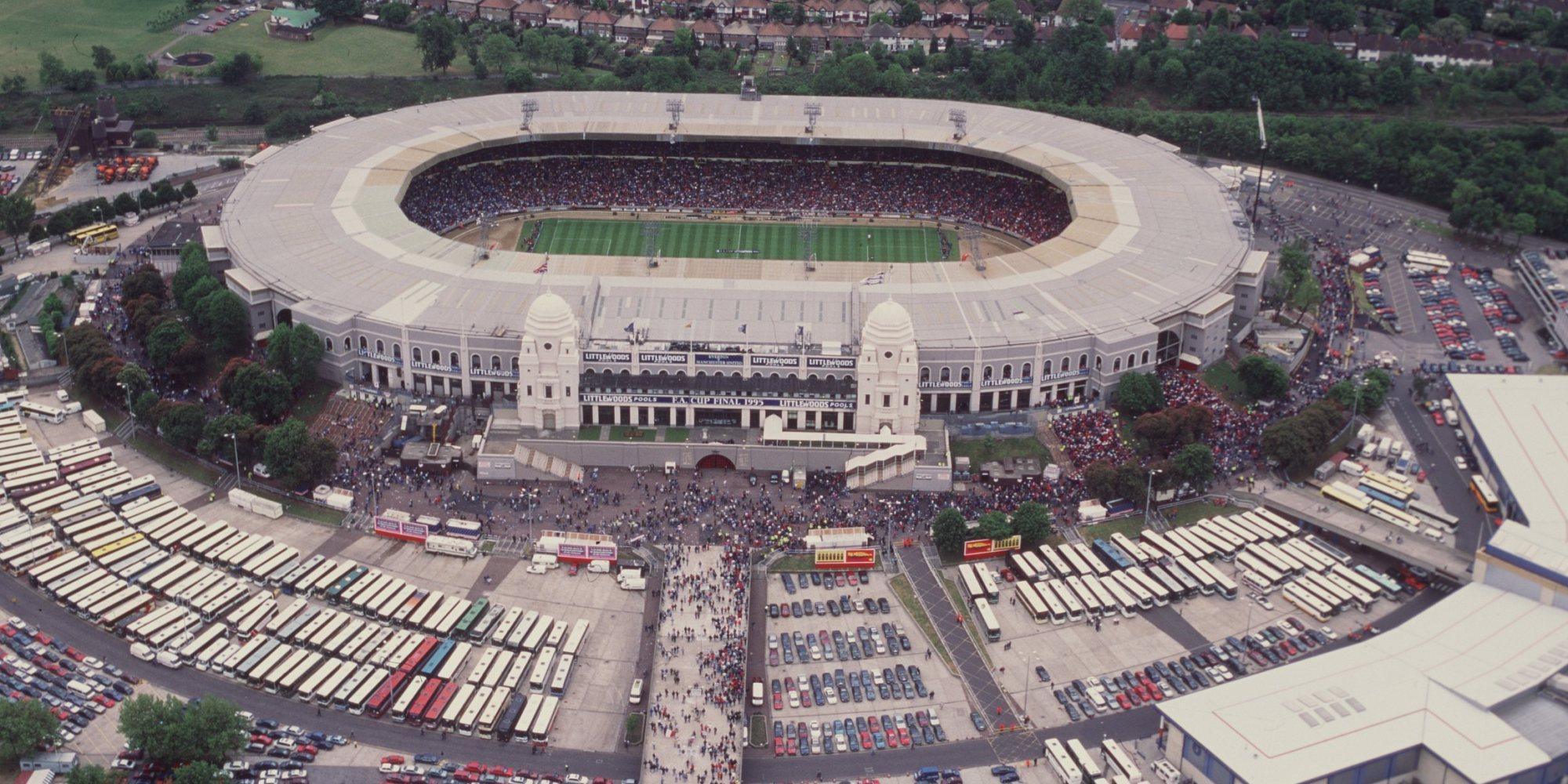 Il vecchio stadio di Wembley, Londra