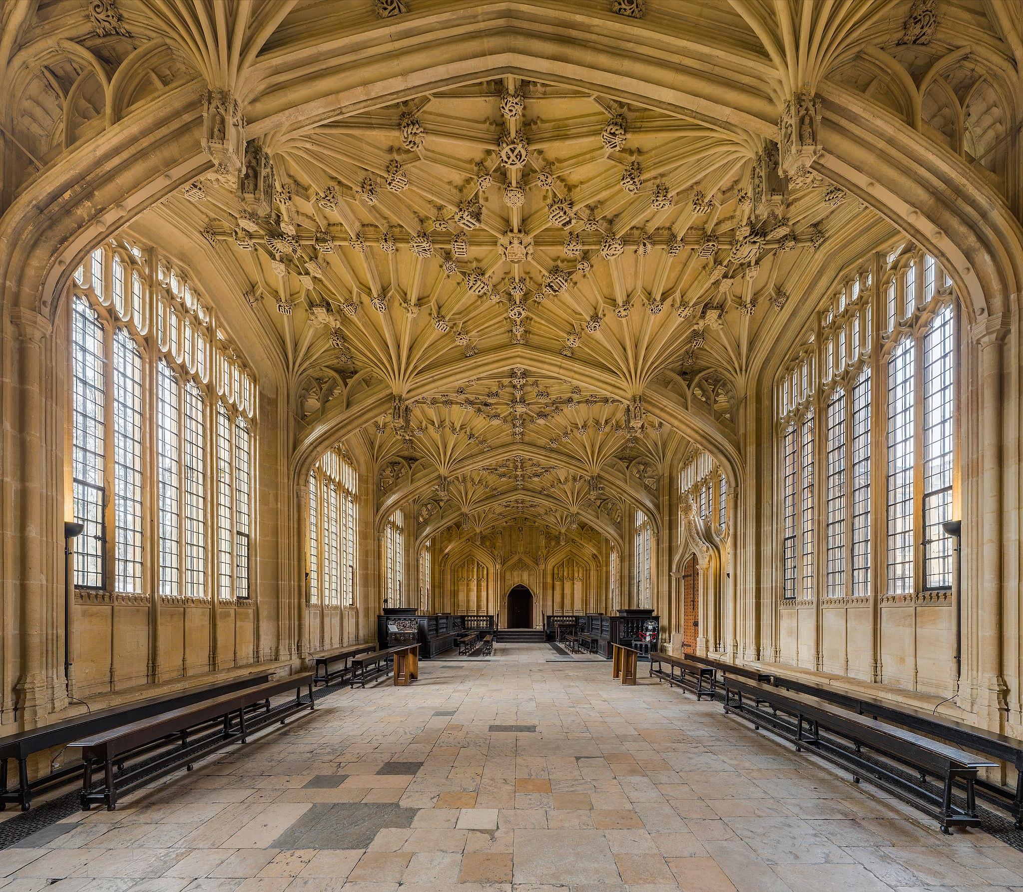 Divinity School, Bodleian Library, Oxford University, Oxfordshire. Foto:        Wikimedia / Diliff