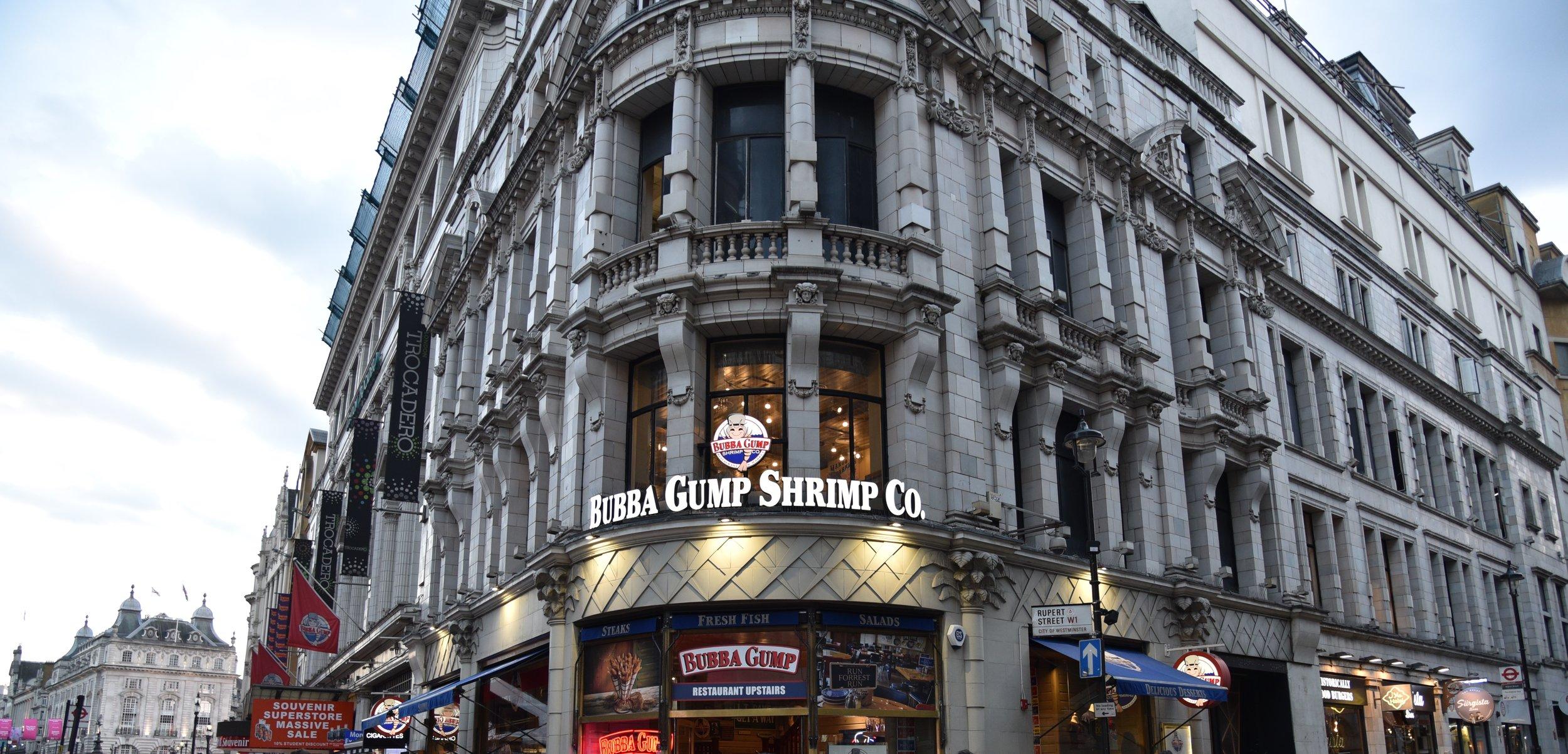 Bubba Gump Shrimp Co, Londra. Foto di Greta Cinalli