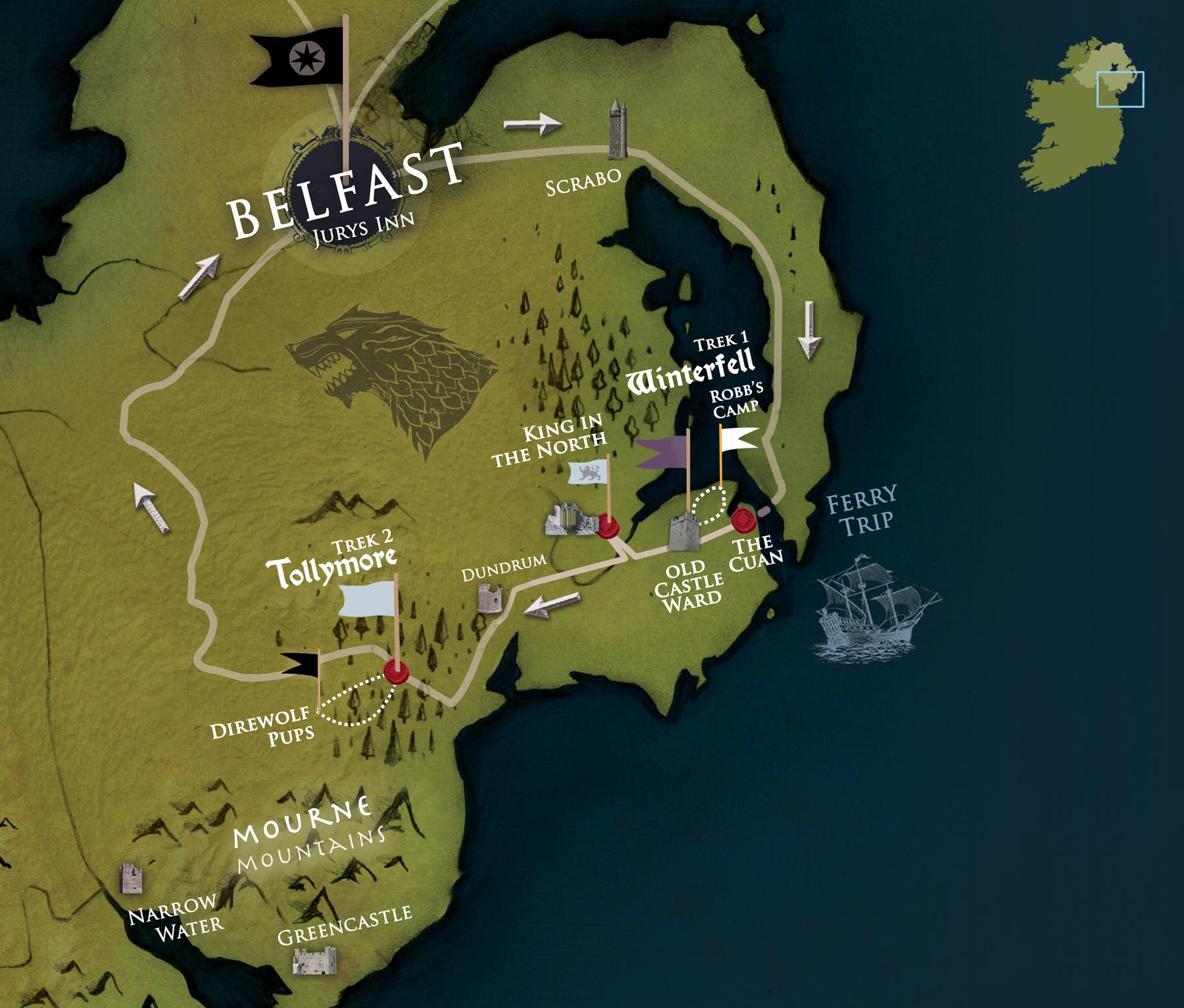 """Belfast Winterfell Locations Trek"" , immagine di Game of Thrones Tours"