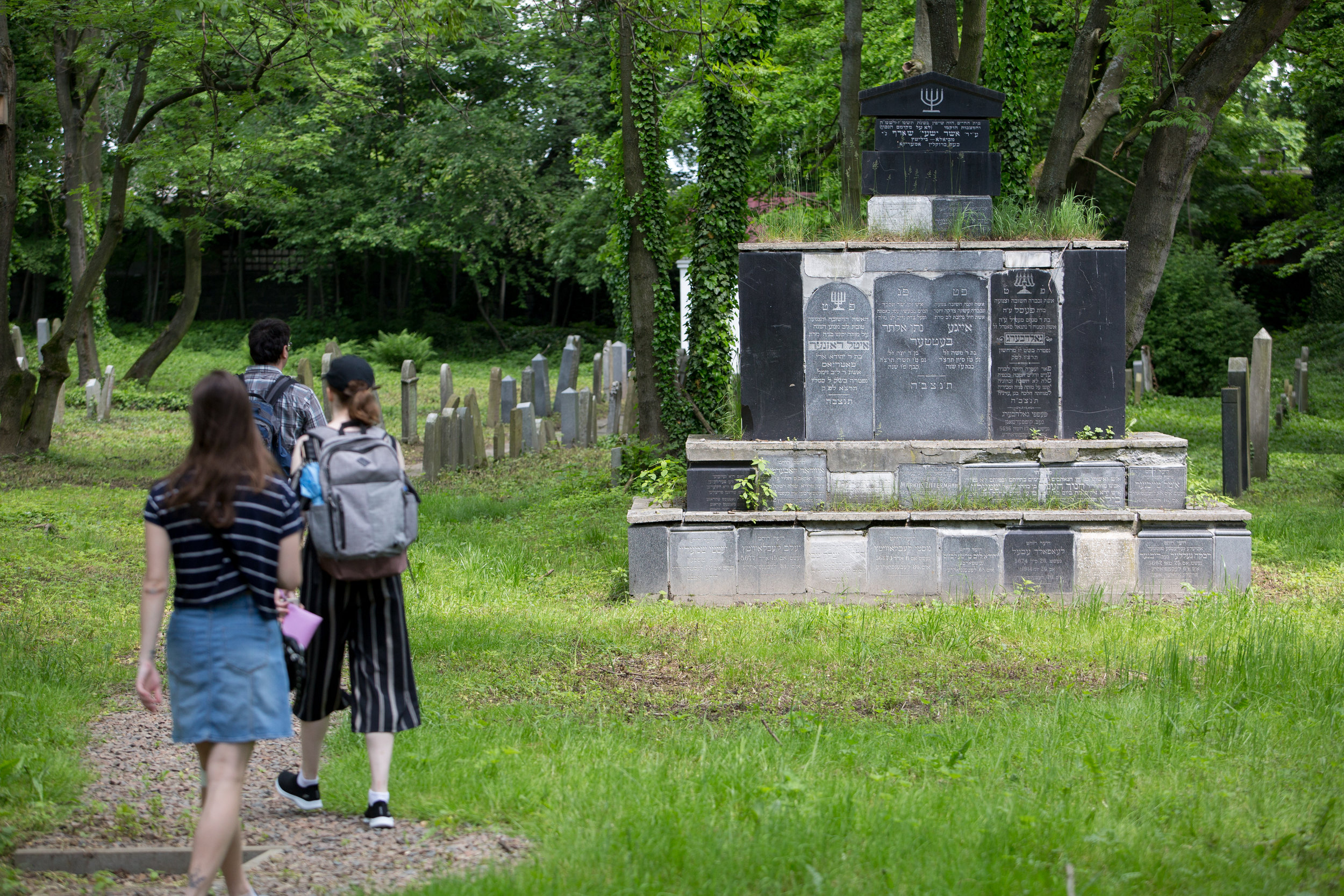 """We Will Write Our History""  participants walk through the Jewish cemetery on May 27, 2019 in Oswiecim, Poland. (Photo by Elan Kawesch/TRTN)"