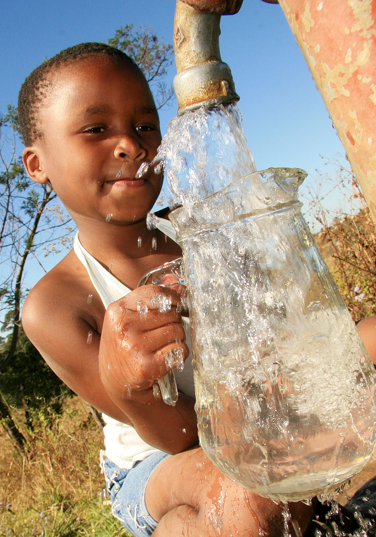 South Africa's water policy prioritizes domestic consumers.