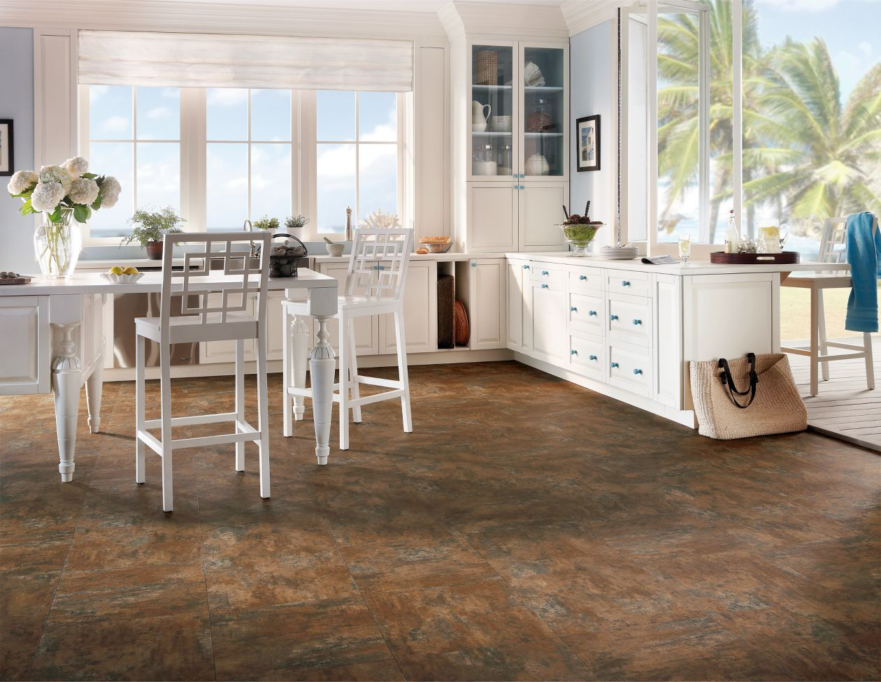 Copper tile vinyl flooring from  Armstrong