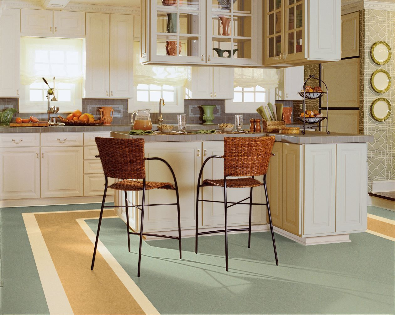 Charcoal Gray linoleum from  Armstrong