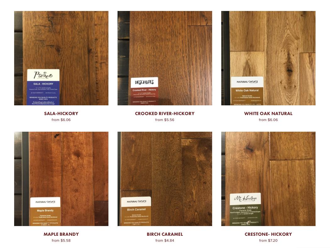 online pre-finished hardwood store