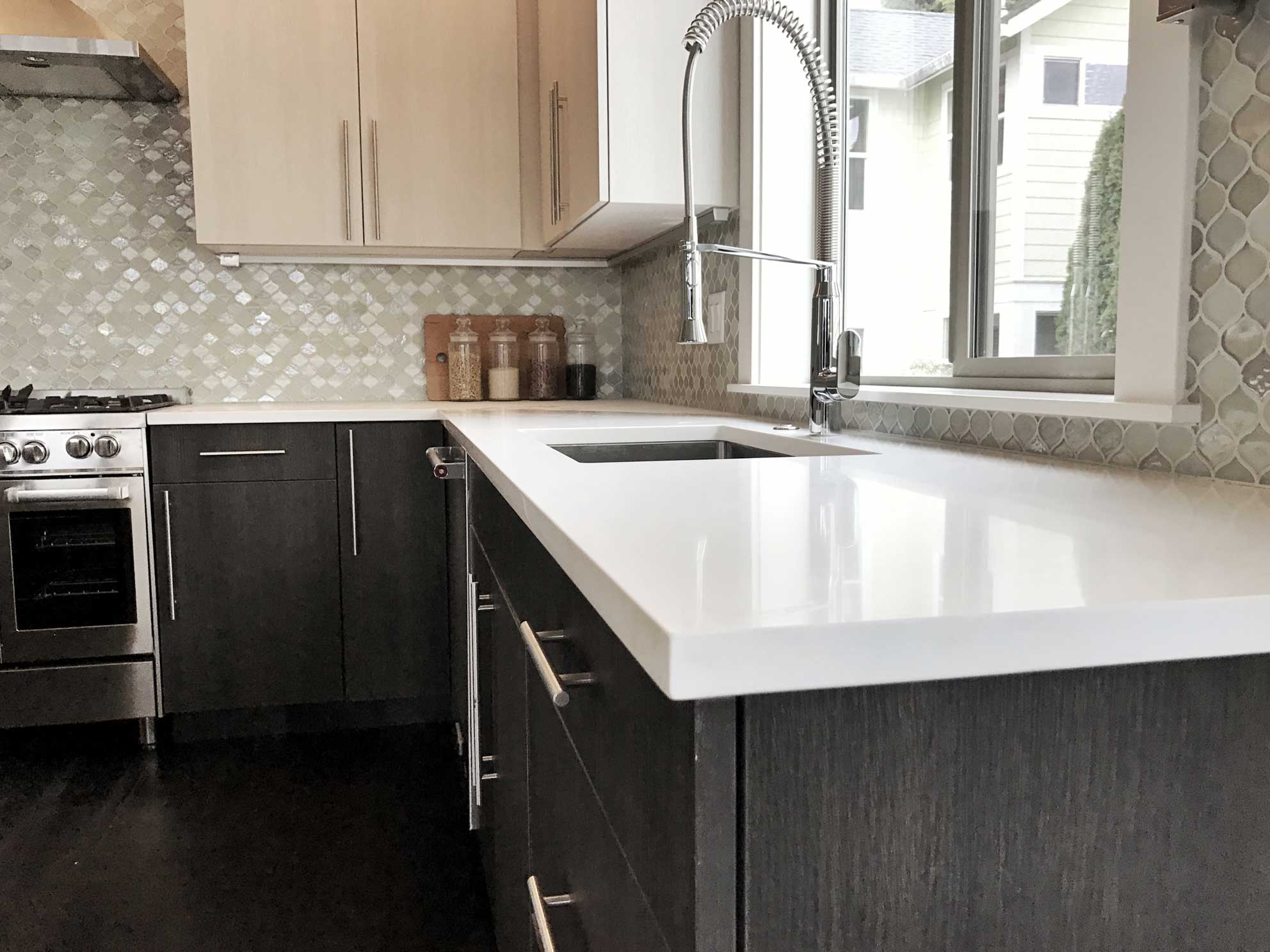 Full Kitchen Remodel with Stone Countertops by Divine Hardwood & Stone