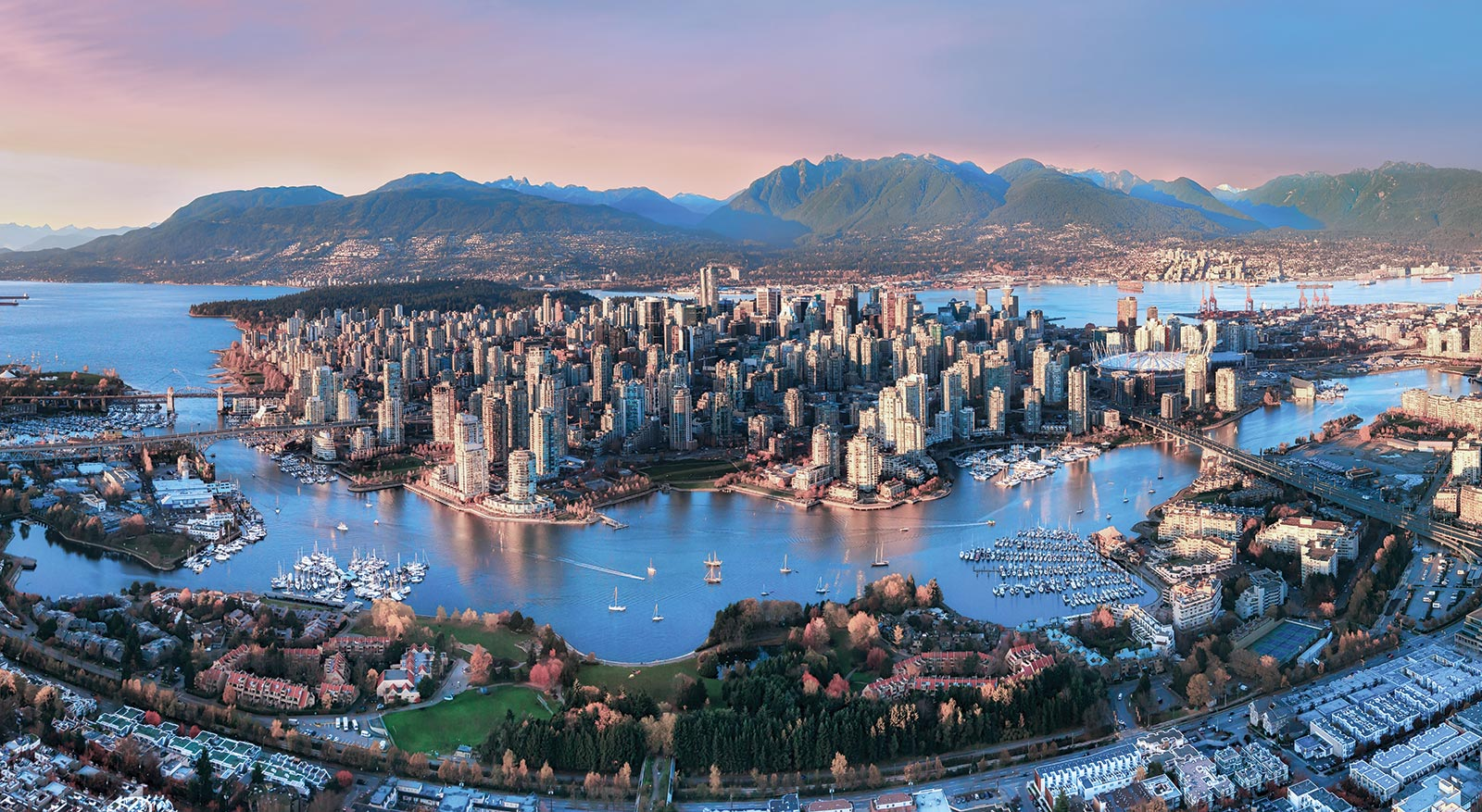 Vancouver - Vancouver, a bustling west coast seaport in British Columbia, is among Canada's densest, most ethnically diverse cities. A popular filming location, it's surrounded by mountains, and also has thriving art, theatre and music scenes. Vancouver Art Gallery is known for its works by regional artists, while the Museum of Anthropology houses preeminent First Nations collections.