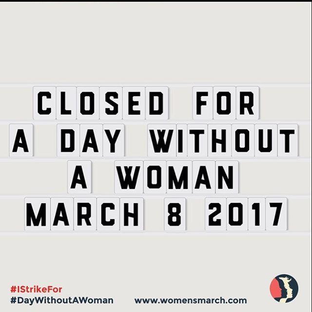 #adaywithoutwomen #womemsmarch #march8 #resist #persist #persisterhood #wearred