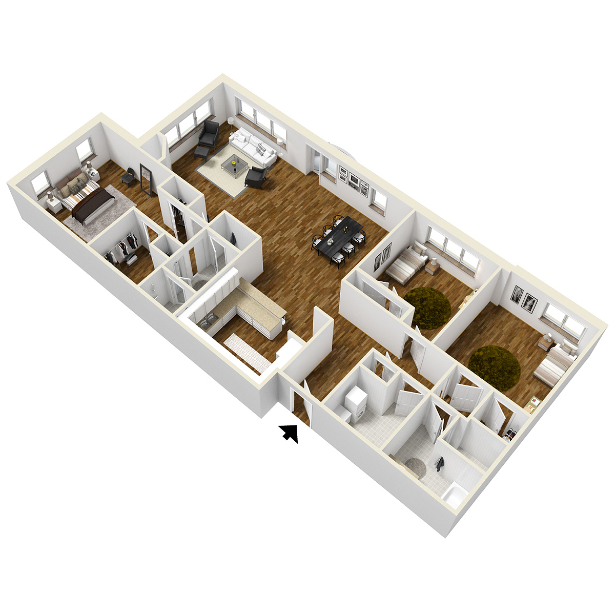 typical penthouse layout