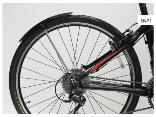 Rear Fender placement position (chain side of bike)