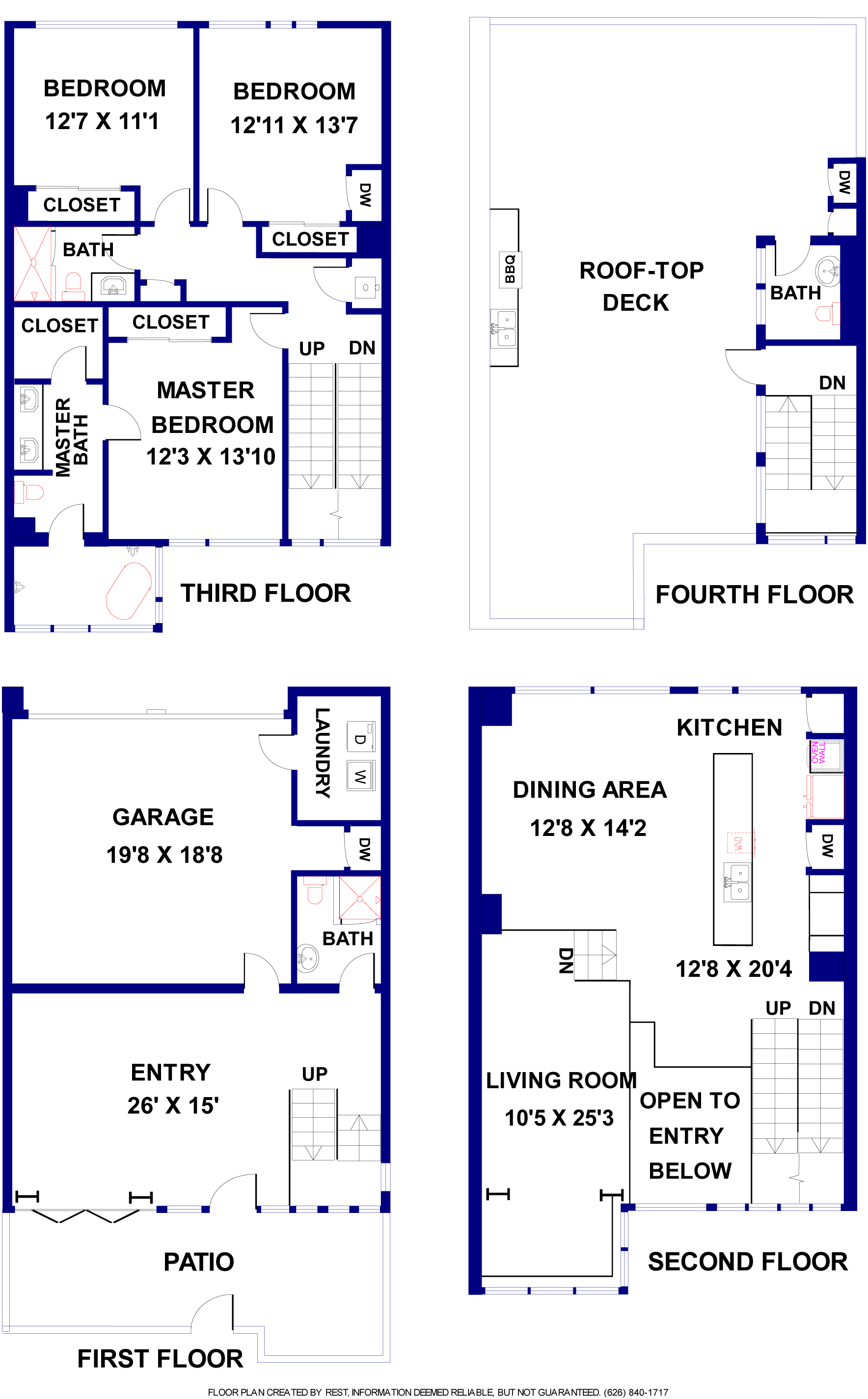 Sample floor plan. Layout of available units may vary.  Measurements should be field verified.