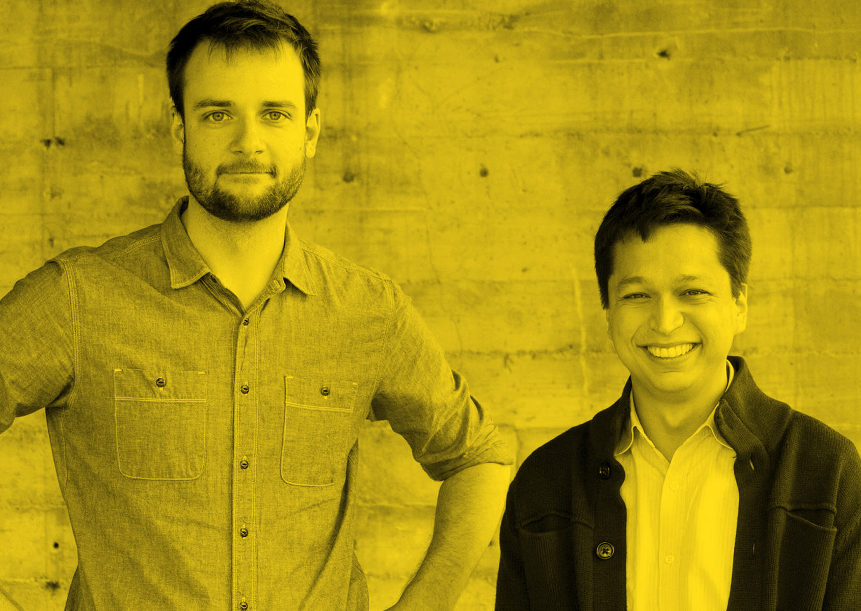 Evan Sharp e Ben Silbermann, i co-fondatori insieme a Paul Sciarra di Pinterest.