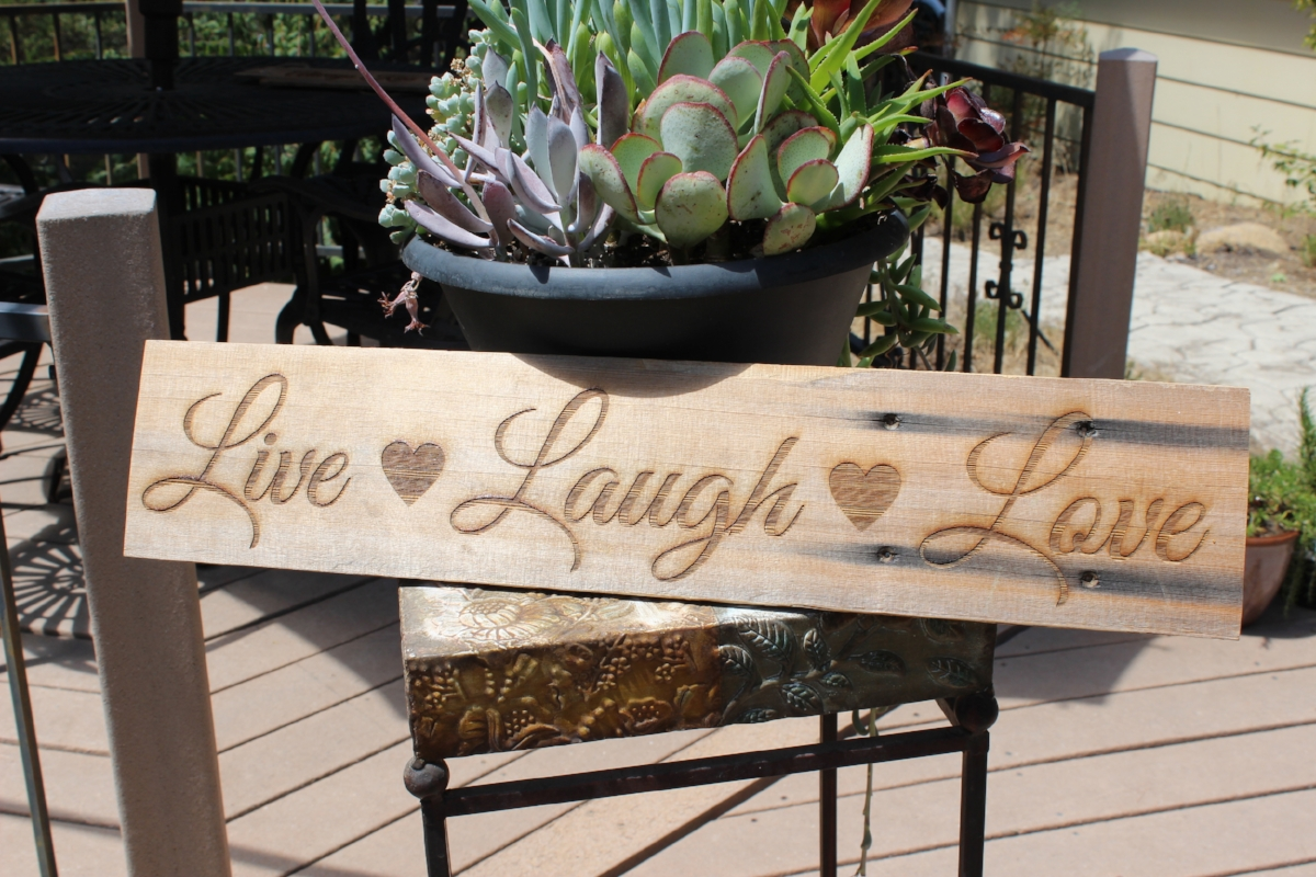 Live Laugh Love Reclaimed Wood Sign