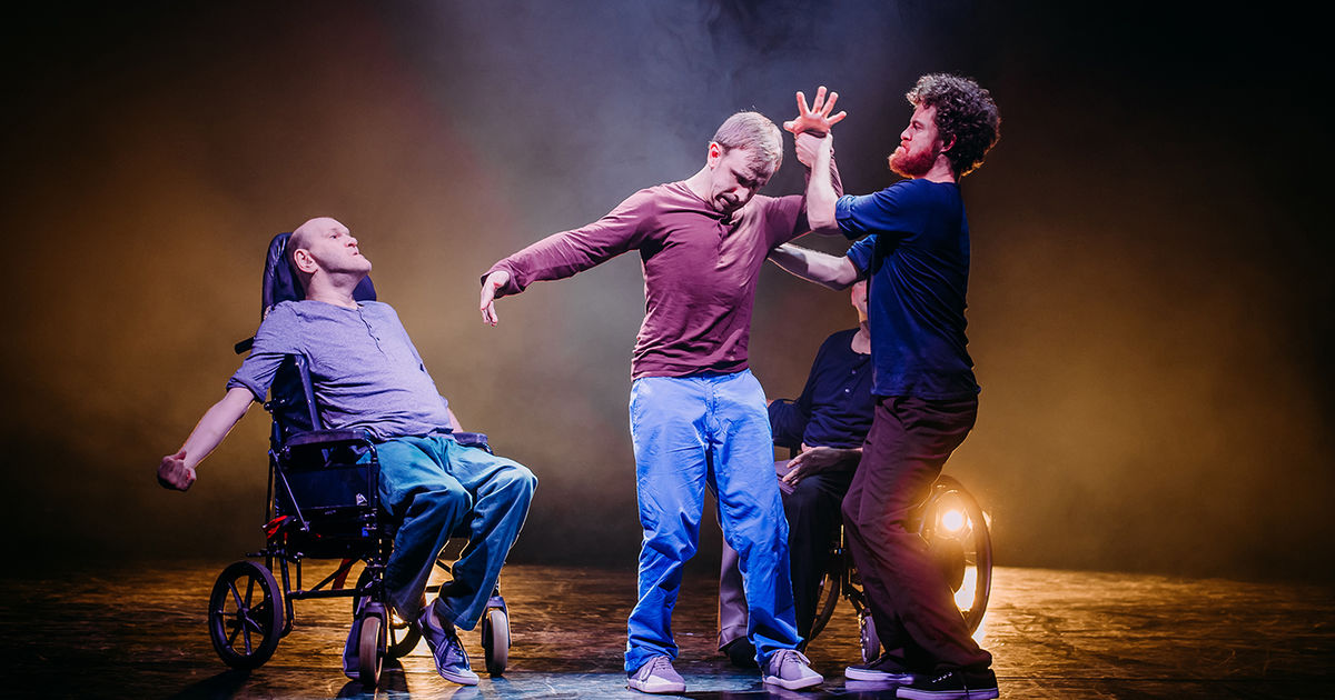 I'm excited to announce that  Purposeless Movements , the 2016 award winning production by  Birds of Paradise  theatre company returns this summer for a run at  Edinburgh International Festival 2019.    Purposeless Movements  is a visually stunning dance theatre piece that riffs on the stories of four guys with cerebral palsy, how it affects their lives, their gender, their masculinity and their movement.  I'll be performing the score live, this time with the brilliant Jill O'Sullivan (formerly of  Sparrow and the Workshop  and now  Jill Lorean ). The sound world is raw, powerful and delicate using the instrumentation of electric guitars, piano, violin and voice which will be looped and processed.  We'll be performing at  The Studio  from 19-24 August 2019. Please check out the  EIF  website for ticket booking and show times.  Several festival shows are already sold out and for those who can't make those dates we are previewing on the 16th and 17th August at  The Beacon Arts Centre  in Greenock.  See you there!