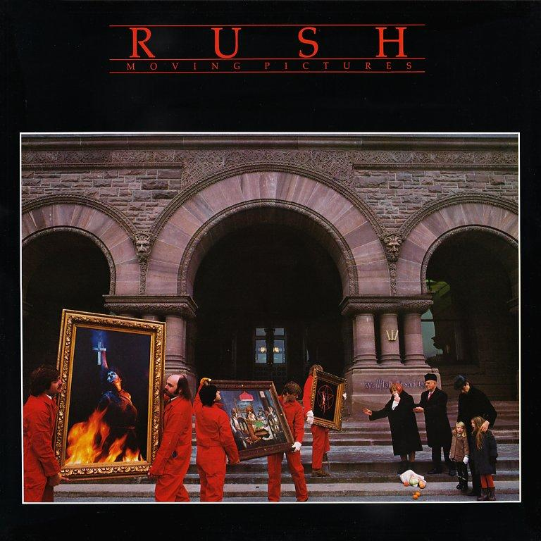 """This is what I call the """"Rush Starter Kit"""" Also notice that the people on the album cover are literally  moving pictures ."""