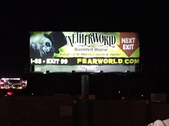 Netherworld Haunted House off of I-85 near ATlanta, GA