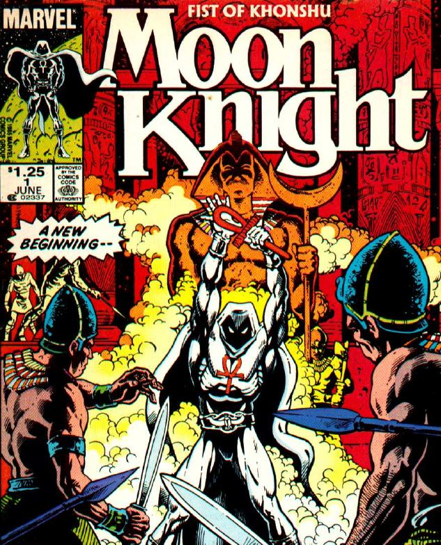 mid-1980's moon knight focused on his egyptian iconography.