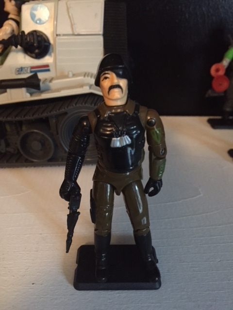 Major Bludd is a mercenary that often works for cobra. He is one of the few G.I. Joe action figures ever made that isn't articulate at the elbow (only on the right side).