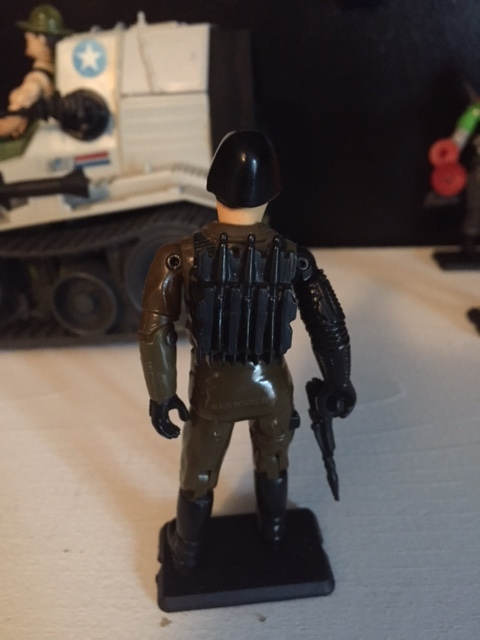 Major Bludd came with a backpack with molded rockets.