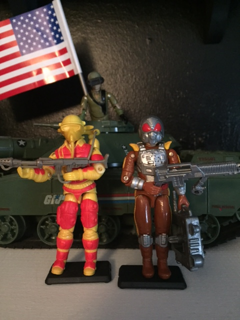 blowtorch was later replaced in the line by charbroil. charbroil is a much worse looking action figure with his alien like helmet and his flame thrower which looks nothing like an actual flame thrower. in my opinion, blowtorch is a far superior figure.