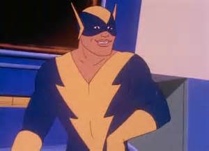 Black Vulcan was not a pre-existing DC Comics character but instead was a stand-in for another African American superhero with electricity-based powers, Black Lightning, who could not be used due a dispute between DC and Black Lightning's creator Tony Isabella.