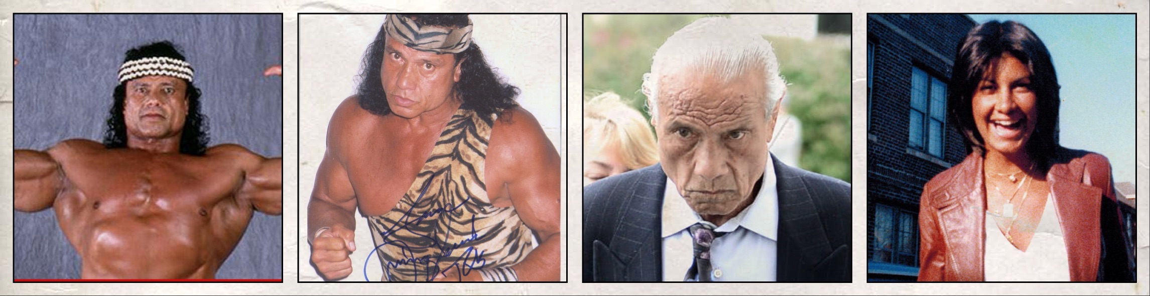 "Jimmy snuka muscled up bodybuilder, jimmy snuka ""stero-type jungle savage, jimmy snuka dying old man, and the real victim of the story, nancy argentino- murder victim that never got justice."