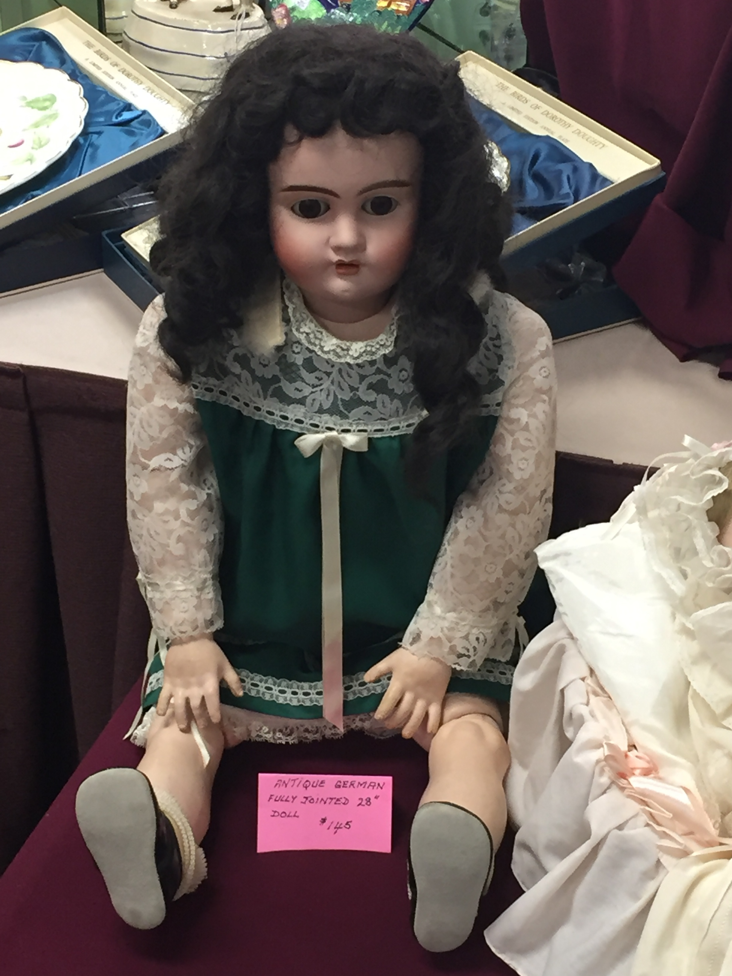 very good condition antique german doll.  we talked about this doll on episode 18 of the when it was cool podcast.