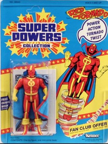 Kenner 5 inch DC super powers red tornado action figure