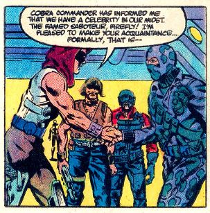 Firefly meets zartan in G.I. Joe: A Real American Hero issue 25