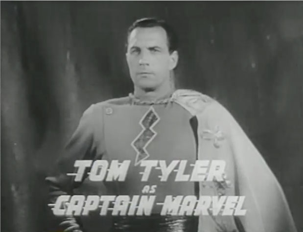 in 1941, Captain Marvel got his own 12 part movie serial and the character was played in live action for the first time by tom tyler.