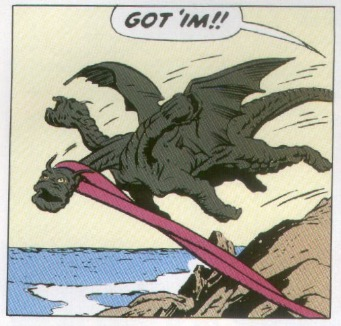 giant monsters were a popular comic book and movie theme at the time.