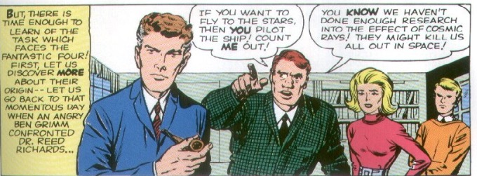 """reed richards would have you believe that the brutish """"Thing' is the dumb one of the fantastic four. however, the truth is, the thing is the only one with a clue."""