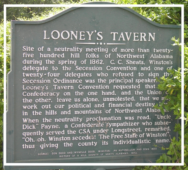 Looney's Tavern historical marker.   Support When It Was Cool .