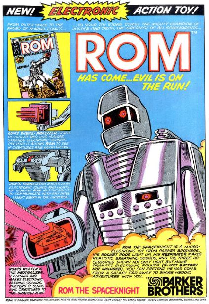 ROM comic book ad circa 1979.  Support When It Was Cool .
